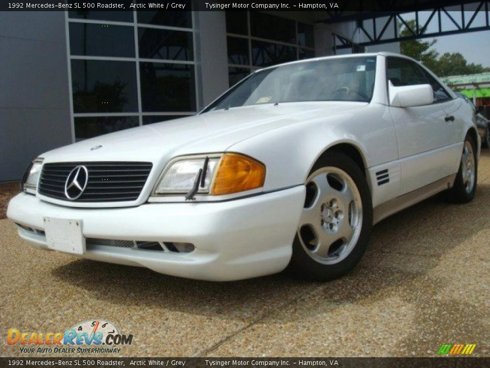 1992 mercedes benz sl 500 roadster arctic white grey for 1992 mercedes benz sl500