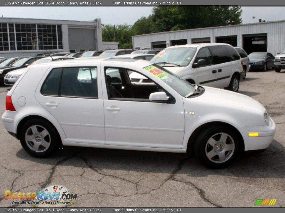 1999 Volkswagen Golf Gls 4 Door Candy White Black Photo