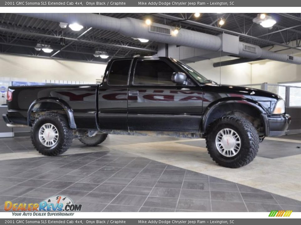 2001 gmc sonoma sls extended cab 4x4 onyx black graphite photo 3. Black Bedroom Furniture Sets. Home Design Ideas