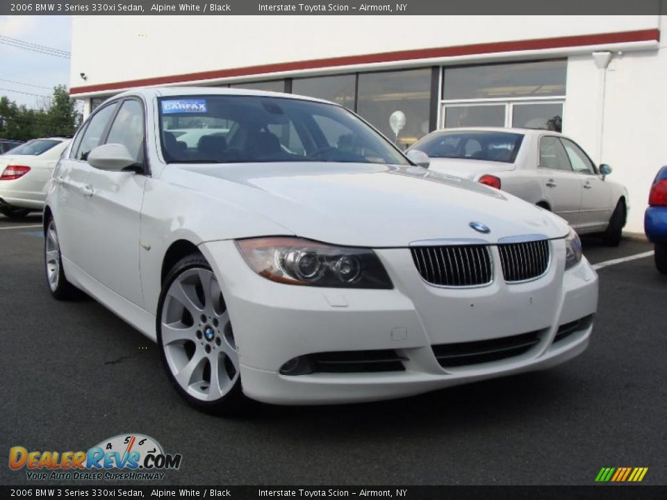 2006 Bmw 3 Series 330xi Sedan Alpine White Black Photo