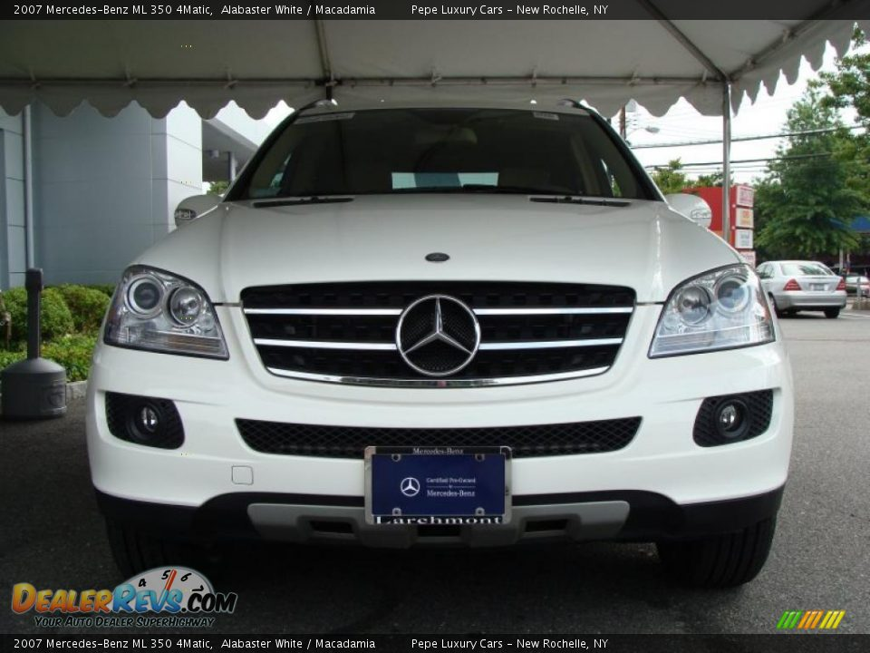 2007 mercedes benz ml 350 4matic alabaster white macadamia photo 2. Black Bedroom Furniture Sets. Home Design Ideas