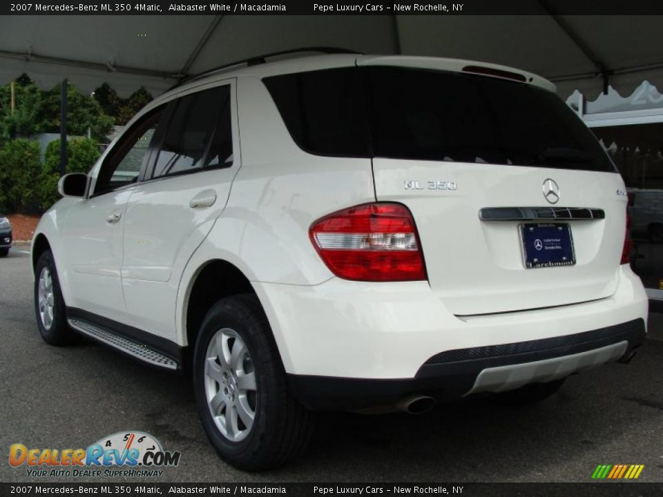 2007 mercedes benz ml 350 4matic alabaster white macadamia photo 6. Black Bedroom Furniture Sets. Home Design Ideas