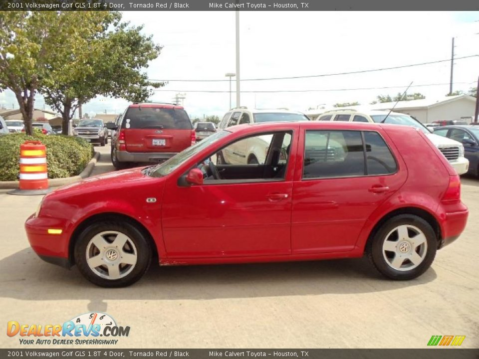 2001 volkswagen golf gls 1 8t 4 door tornado red black. Black Bedroom Furniture Sets. Home Design Ideas