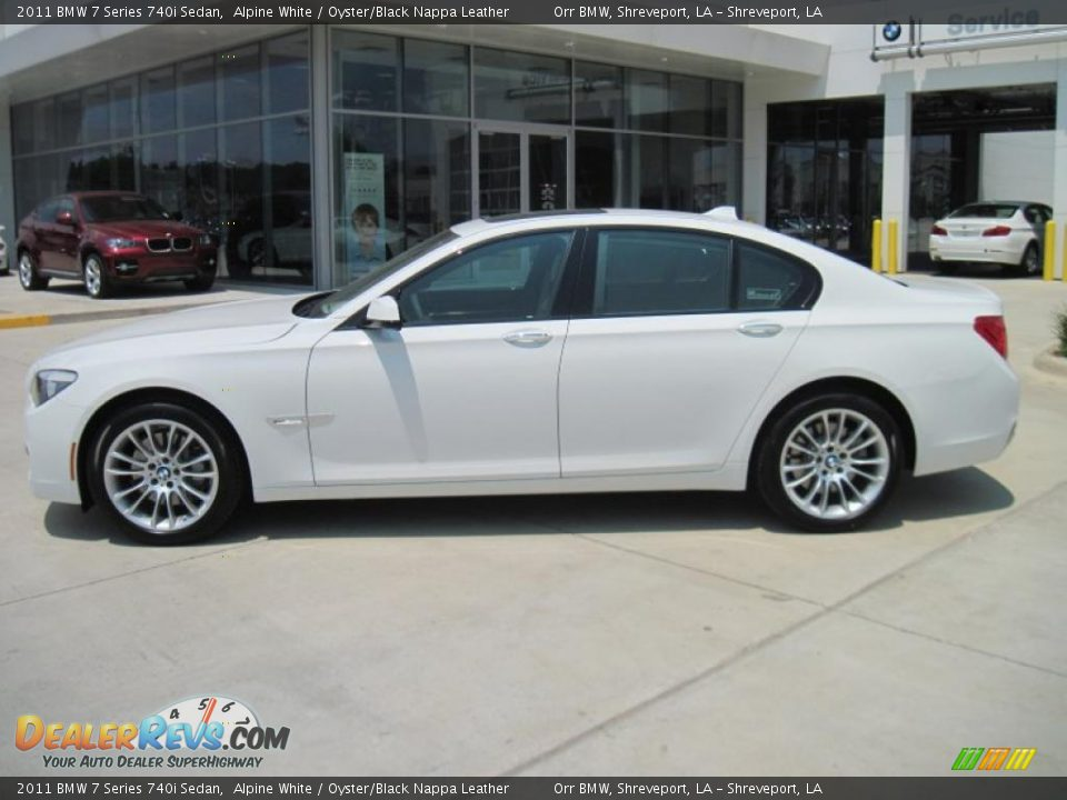 2011 Bmw 7 Series 740i Sedan Alpine White Oyster Black