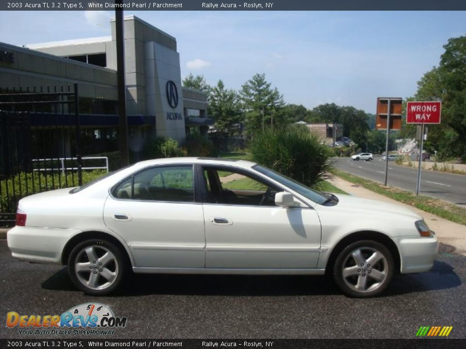2003 acura tl 3 2 type s white diamond pearl parchment. Black Bedroom Furniture Sets. Home Design Ideas
