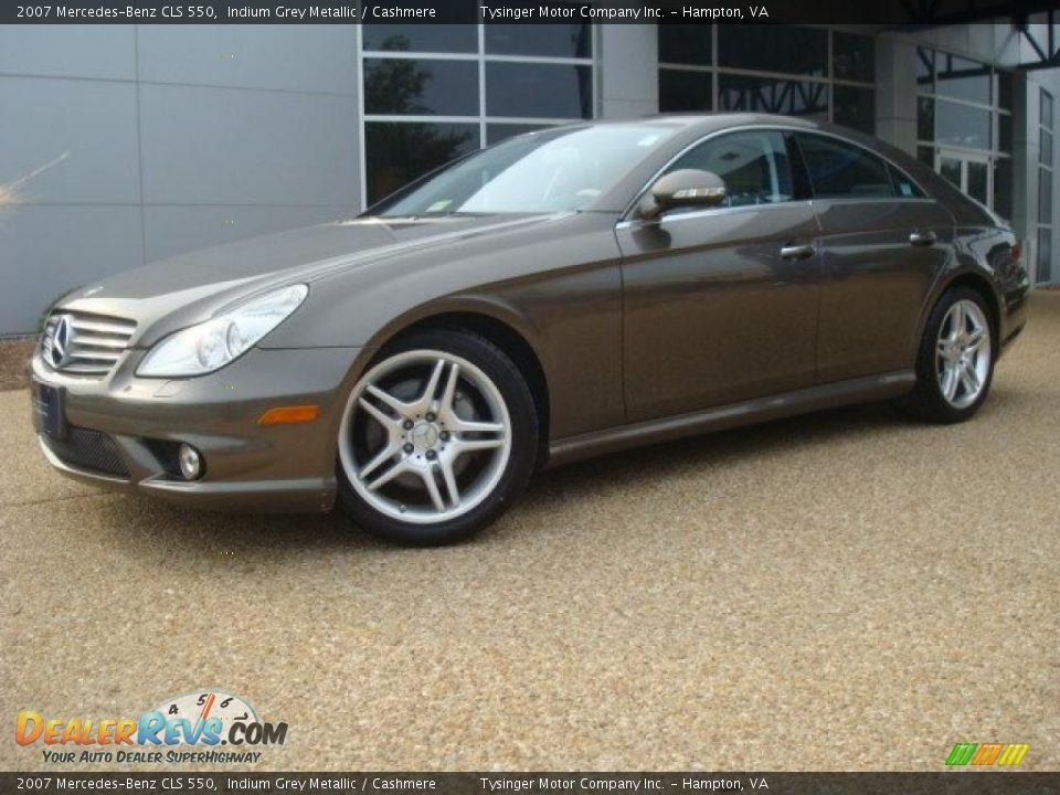 2007 mercedes benz cls 550 indium grey metallic cashmere for 2007 mercedes benz cls