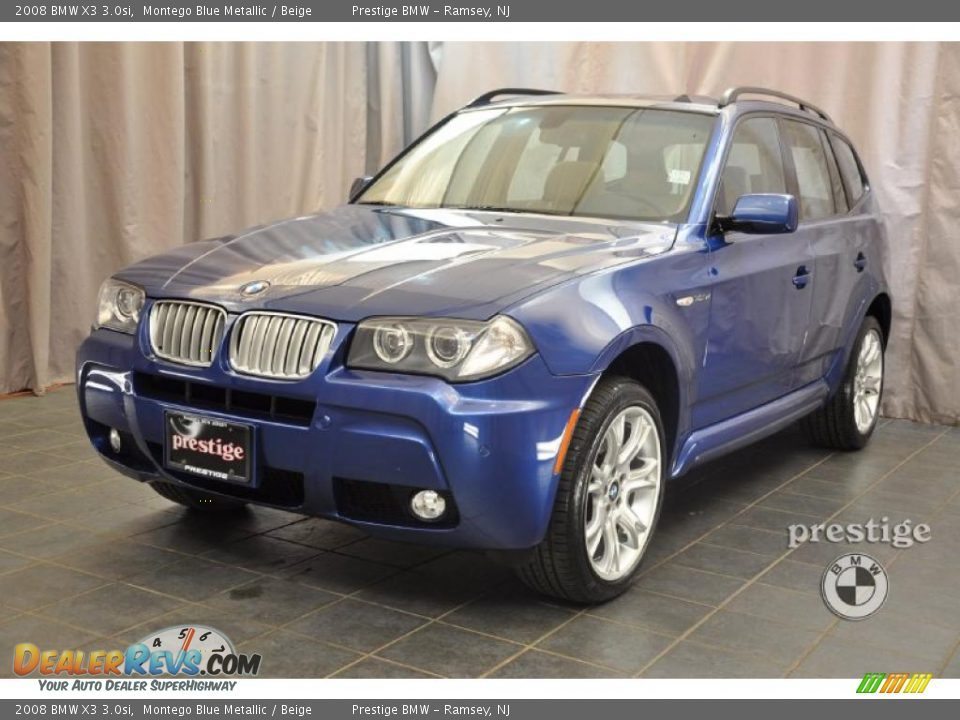 2008 bmw x3 montego blue metallic beige photo 1. Black Bedroom Furniture Sets. Home Design Ideas