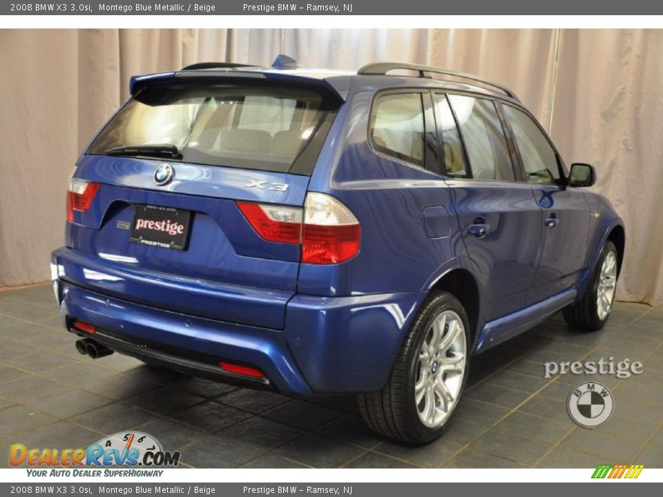 2008 bmw x3 montego blue metallic beige photo 2. Black Bedroom Furniture Sets. Home Design Ideas