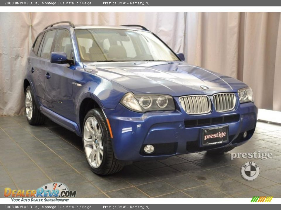 2008 bmw x3 montego blue metallic beige photo 7. Black Bedroom Furniture Sets. Home Design Ideas
