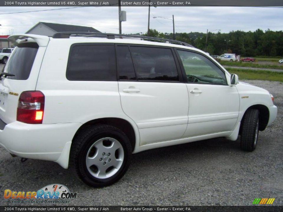 2004 Toyota Highlander Limited V6 4wd Super White Ash