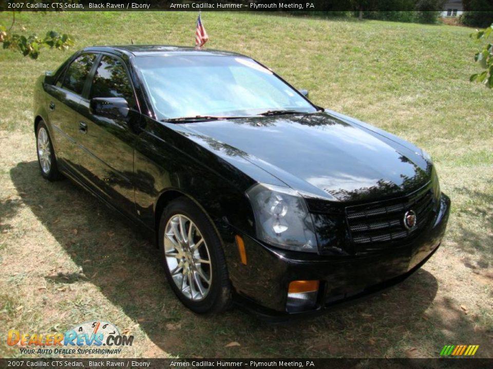 2007 Cadillac Cts Sedan Black Raven Ebony Photo 4