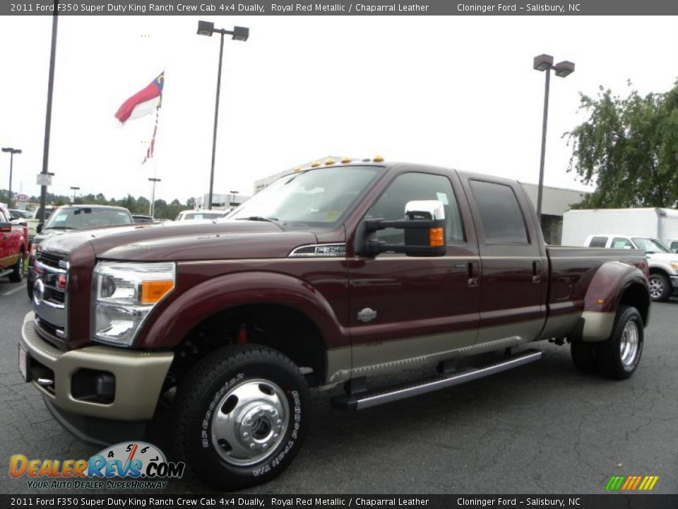 2011 Ford F350 Super Duty King Ranch Crew Cab 4x4 Dually In Royal Red