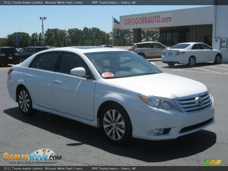 2011 Toyota Avalon Limited Blizzard White Pearl Ivory