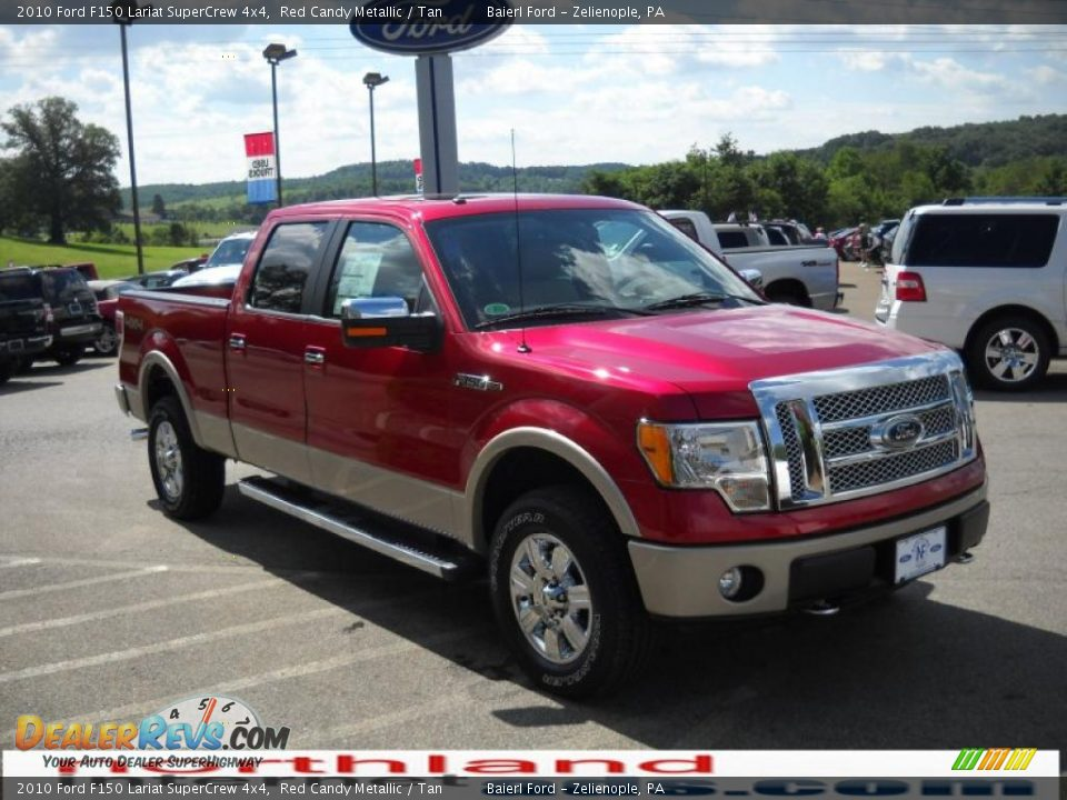 2010 ford f150 lariat supercrew 4x4 red candy metallic tan photo 4 dealerrevs com