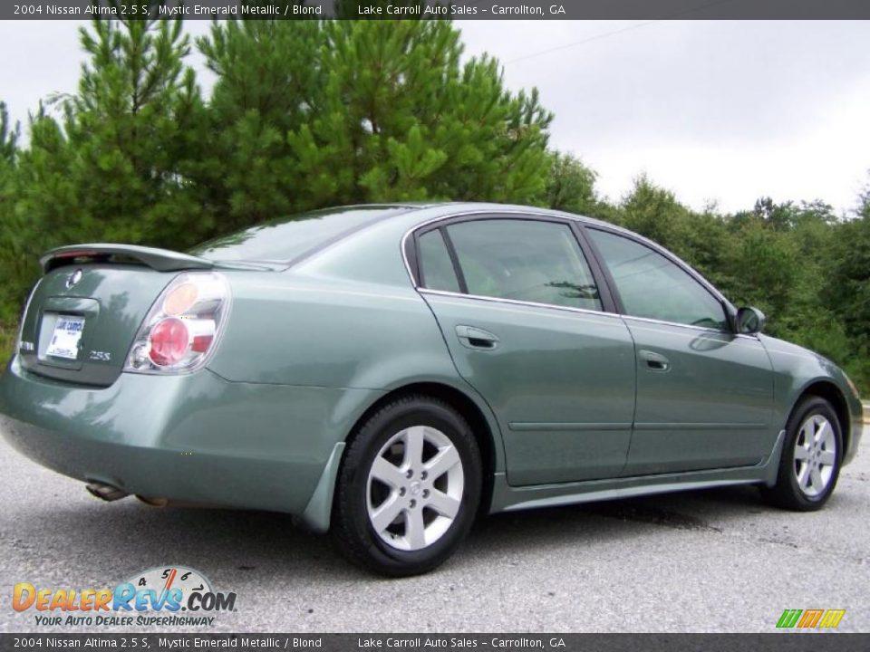 Nissan Altima 2.5 S >> 2004 Nissan Altima 2.5 S Mystic Emerald Metallic / Blond ...