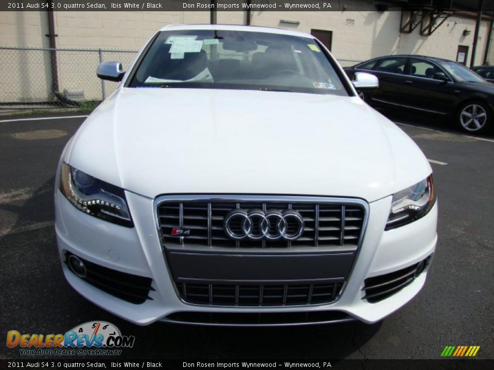 2011 audi s4 3 0 quattro sedan ibis white black photo 3. Black Bedroom Furniture Sets. Home Design Ideas
