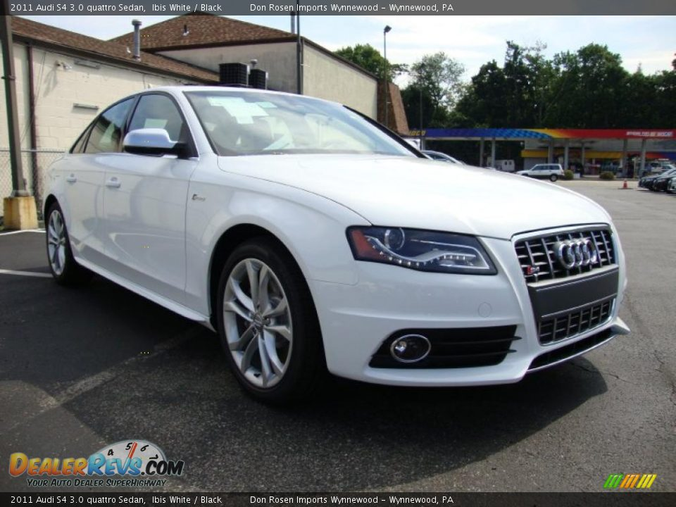 2011 audi s4 3 0 quattro sedan ibis white black photo 5. Black Bedroom Furniture Sets. Home Design Ideas