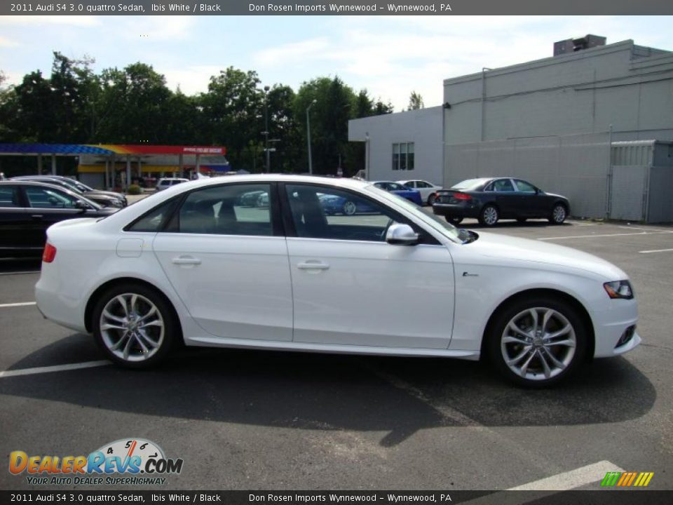 2011 Audi S4 3 0 Quattro Sedan Ibis White Black Photo 6