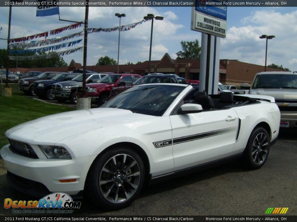 2011 ford mustang gt cs california special convertible performance white cs charcoal black. Black Bedroom Furniture Sets. Home Design Ideas