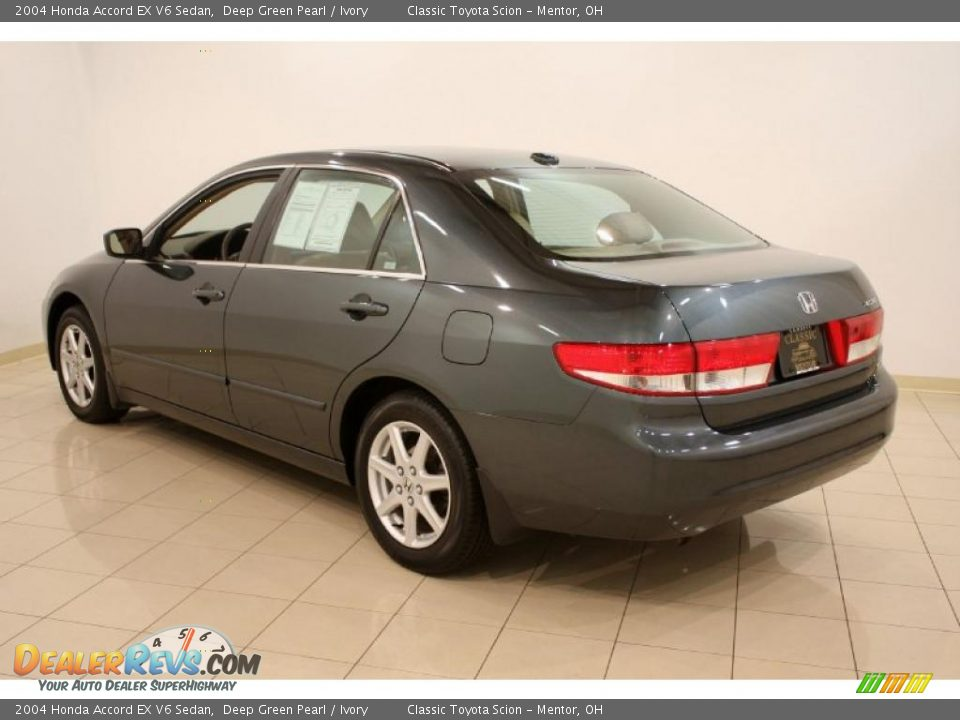 2004 honda accord ex v6 sedan deep green pearl ivory photo 4. Black Bedroom Furniture Sets. Home Design Ideas