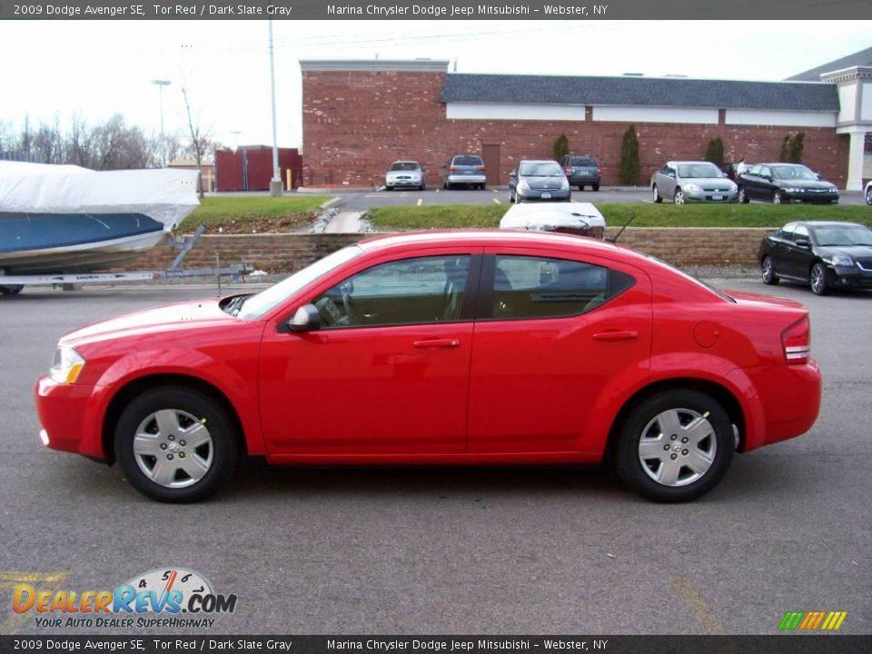 2009 Dodge Avenger Se Tor Red Dark Slate Gray Photo 1