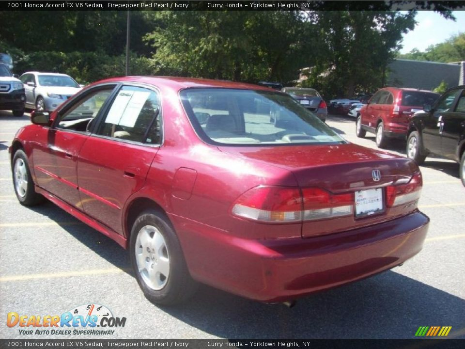 2001 Honda Accord EX V6 Sedan Firepepper Red Pearl / Ivory Photo #2