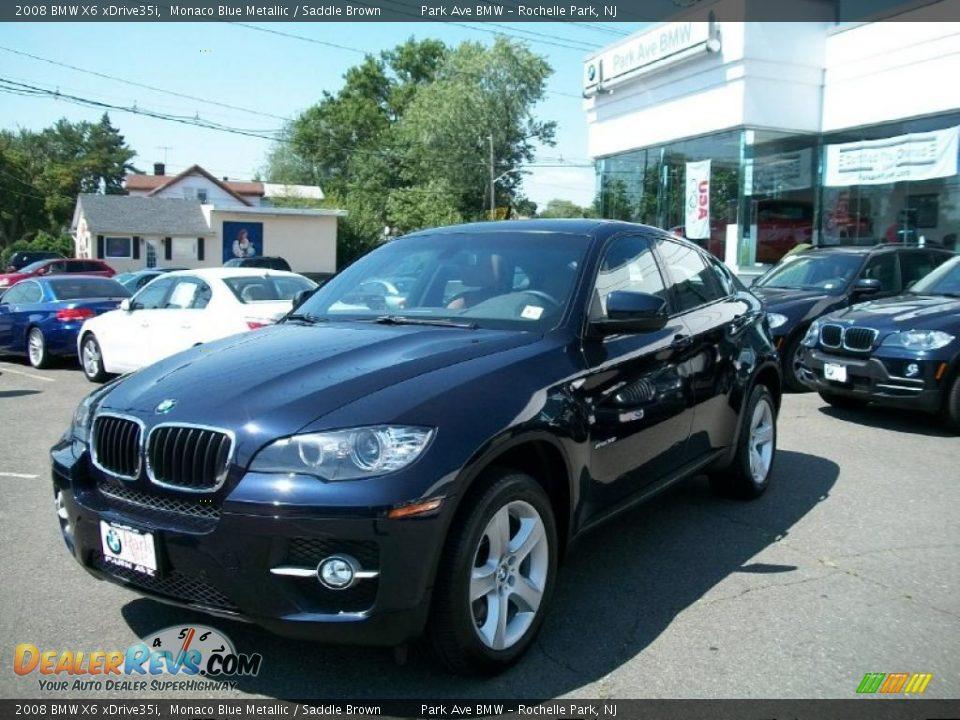 2008 BMW X6 xDrive35i Monaco Blue Metallic / Saddle Brown Photo #1 ...