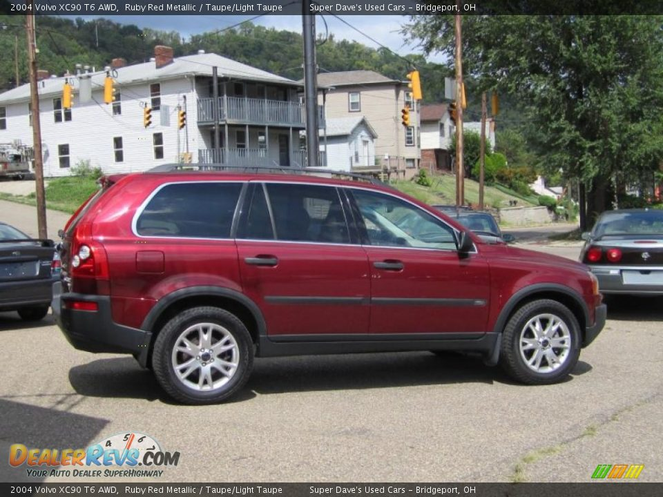 2004 volvo xc90 t6 awd ruby red metallic taupe light taupe photo 3. Black Bedroom Furniture Sets. Home Design Ideas