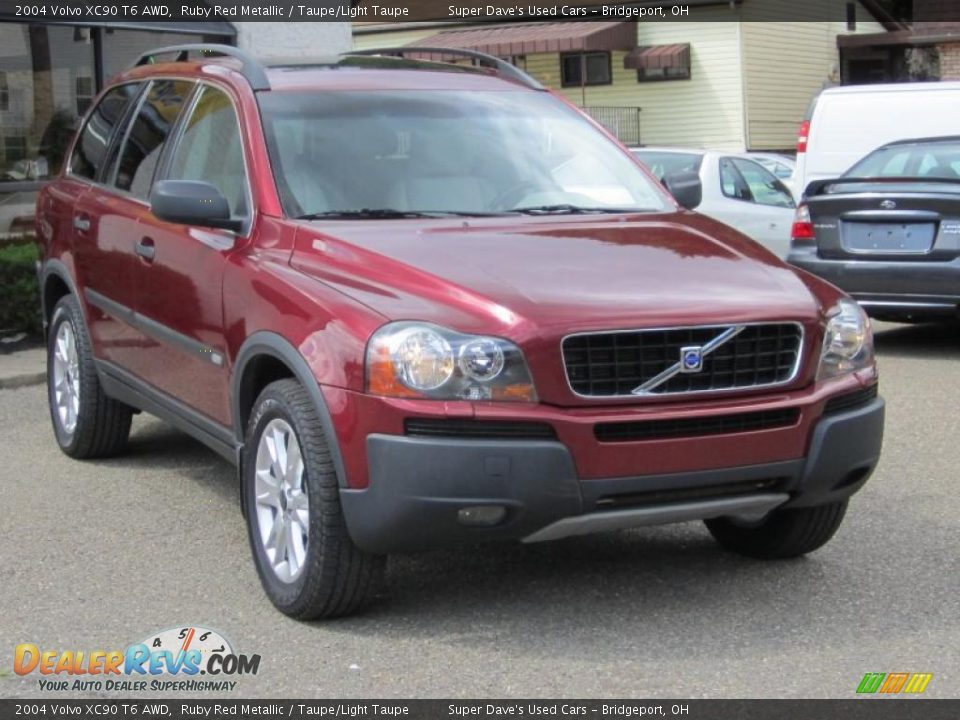 2004 volvo xc90 t6 awd ruby red metallic taupe light taupe photo 15. Black Bedroom Furniture Sets. Home Design Ideas