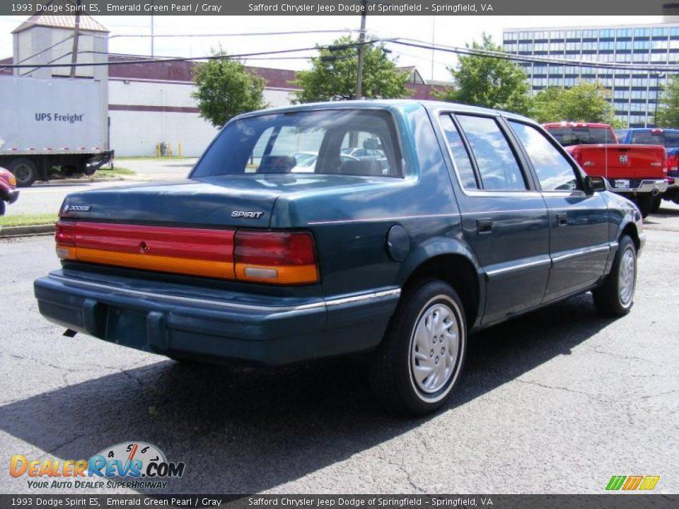 1993 Dodge Spirit ES Emerald Green Pearl / Gray Photo #5   DealerRevs ...