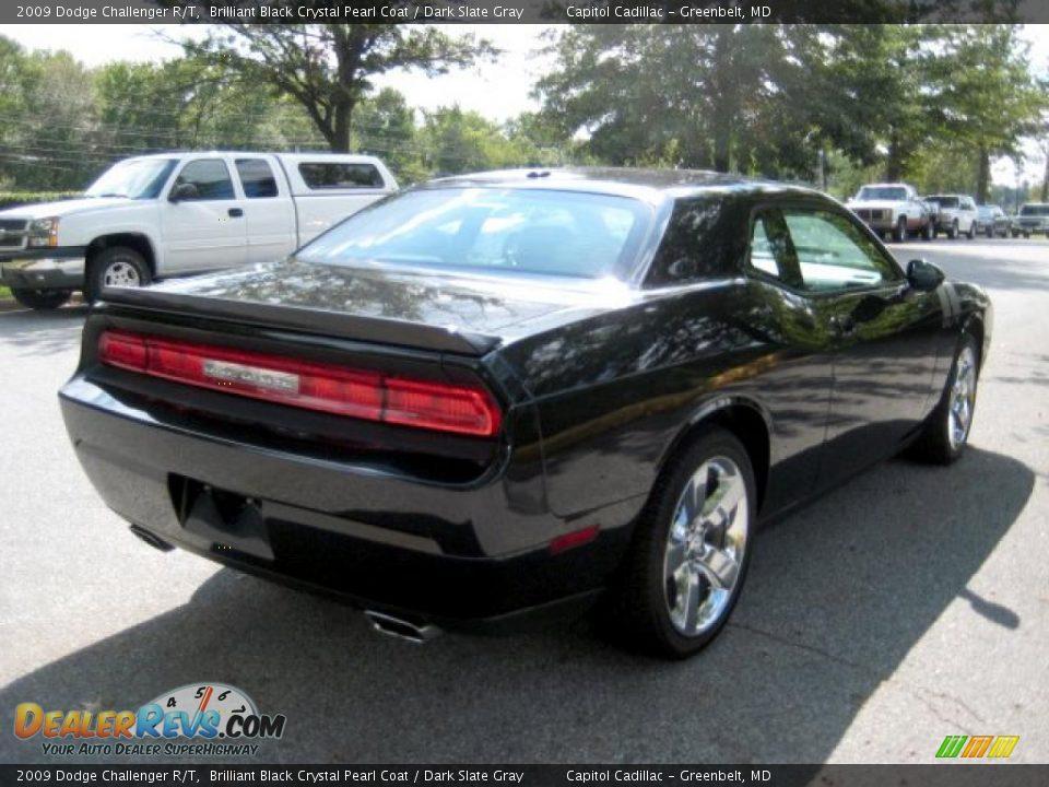 2009 Dodge Challenger R/T Brilliant Black Crystal Pearl Coat / Dark ...