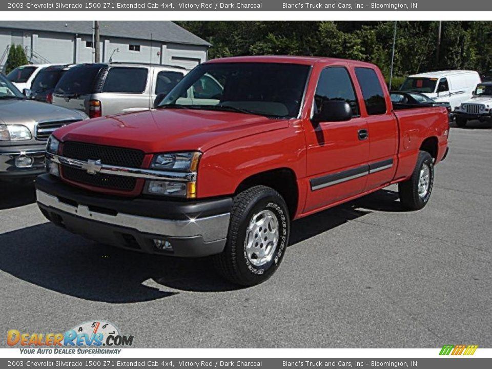 2003 chevrolet silverado 1500 z71 extended cab 4x4 victory red dark charcoal photo 1. Black Bedroom Furniture Sets. Home Design Ideas