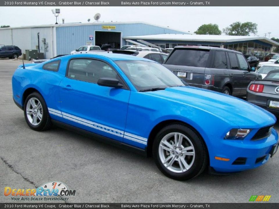 2010 ford mustang v6 coupe grabber blue charcoal black photo 3. Black Bedroom Furniture Sets. Home Design Ideas