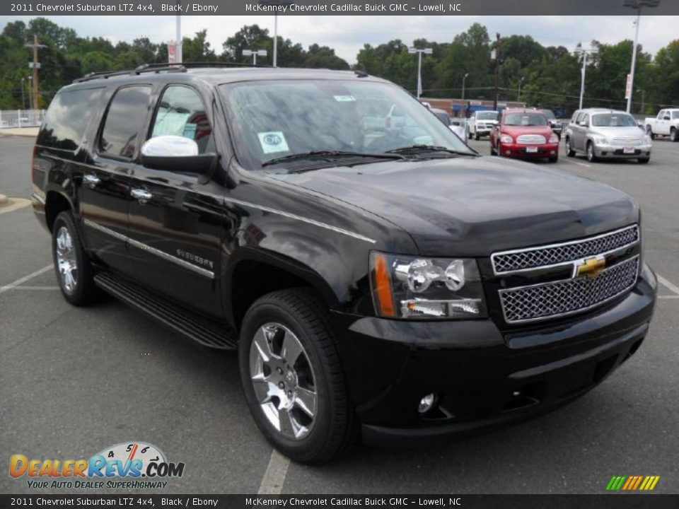 2011 chevrolet suburban ltz 4x4 black ebony photo 5. Black Bedroom Furniture Sets. Home Design Ideas