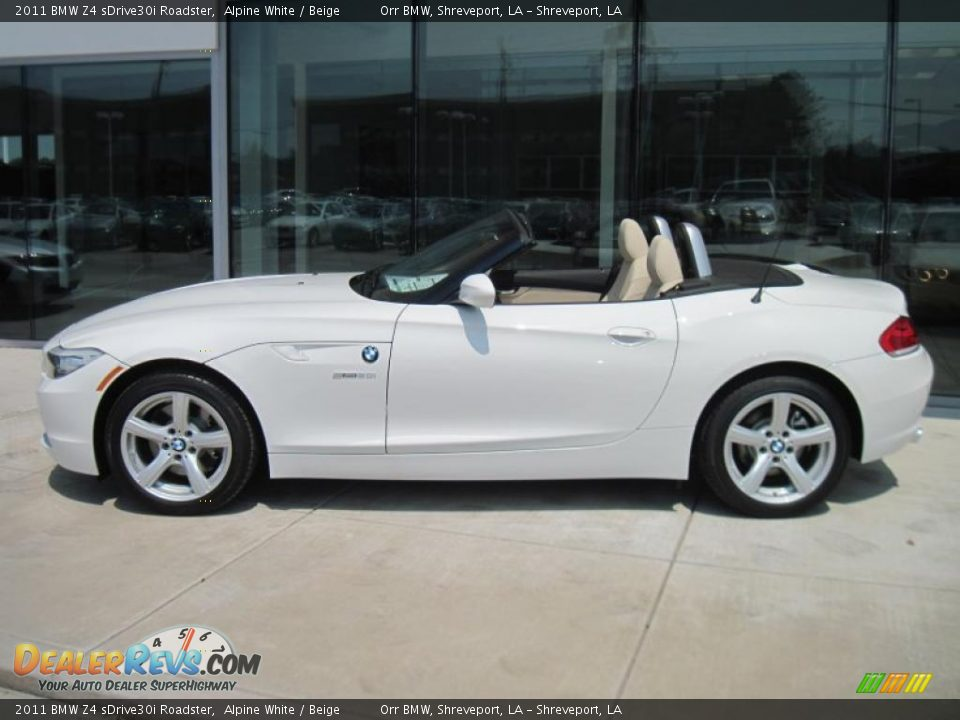 2011 Bmw Z4 Sdrive30i Roadster Alpine White Beige Photo