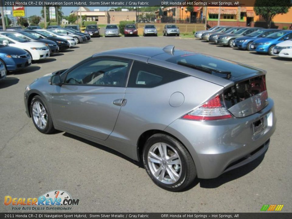 2011 Honda Cr Z Ex Navigation Sport Hybrid Storm Silver Metallic Gray Fabric Photo 3