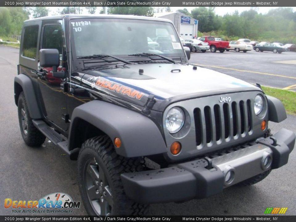 2010 Jeep Wrangler Sport Mountain Edition 4x4 Black Dark