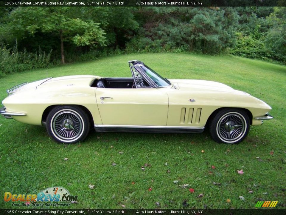 Awesome 1966 Chevrolet Corvette Sting Ray Convertible Sunfire Yellow  Black