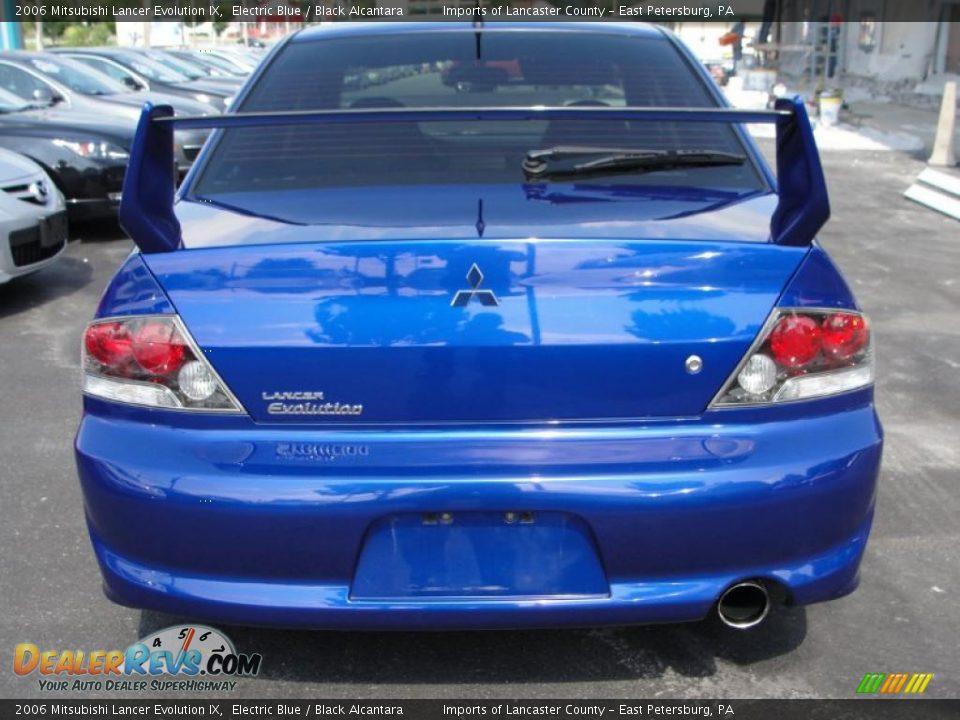 2006 Mitsubishi Lancer Evolution IX Electric Blue / Black Alcantara Photo #5   DealerRevs.com