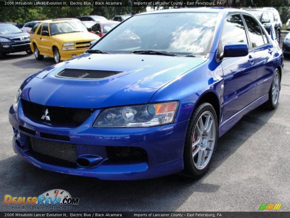 2006 Mitsubishi Lancer Evolution IX Electric Blue / Black Alcantara Photo #7   DealerRevs.com