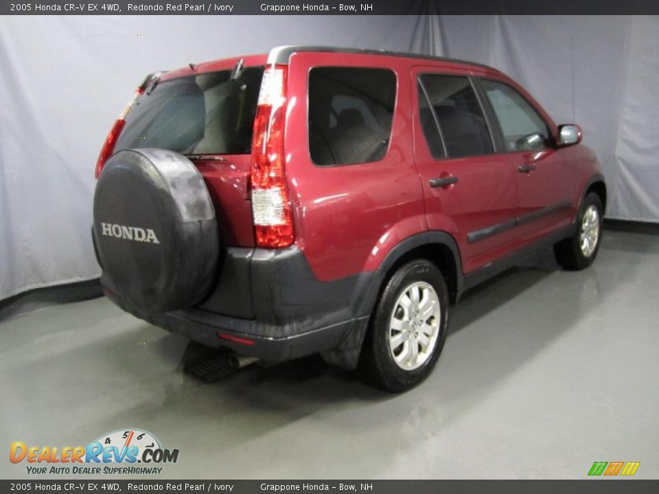 2005 Honda Cr V Ex 4wd Redondo Red Pearl Ivory Photo 3