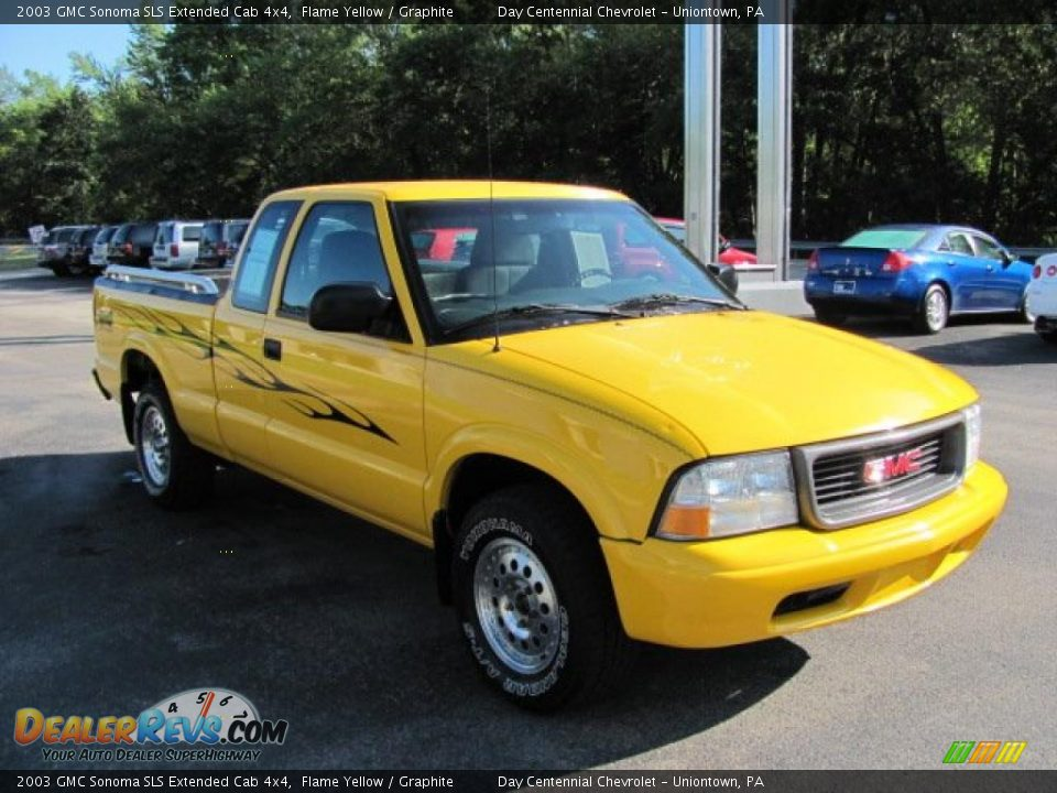 2003 gmc sonoma sls extended cab 4x4 flame yellow graphite photo 11. Black Bedroom Furniture Sets. Home Design Ideas