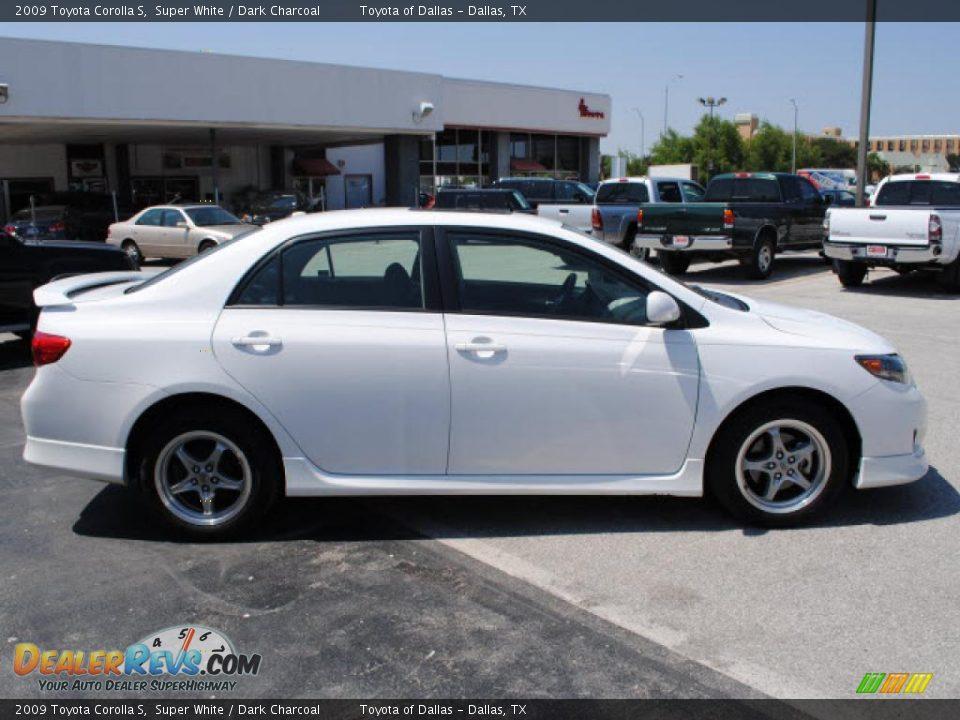 2009 Toyota Corolla S Super White / Dark Charcoal Photo #4 ...