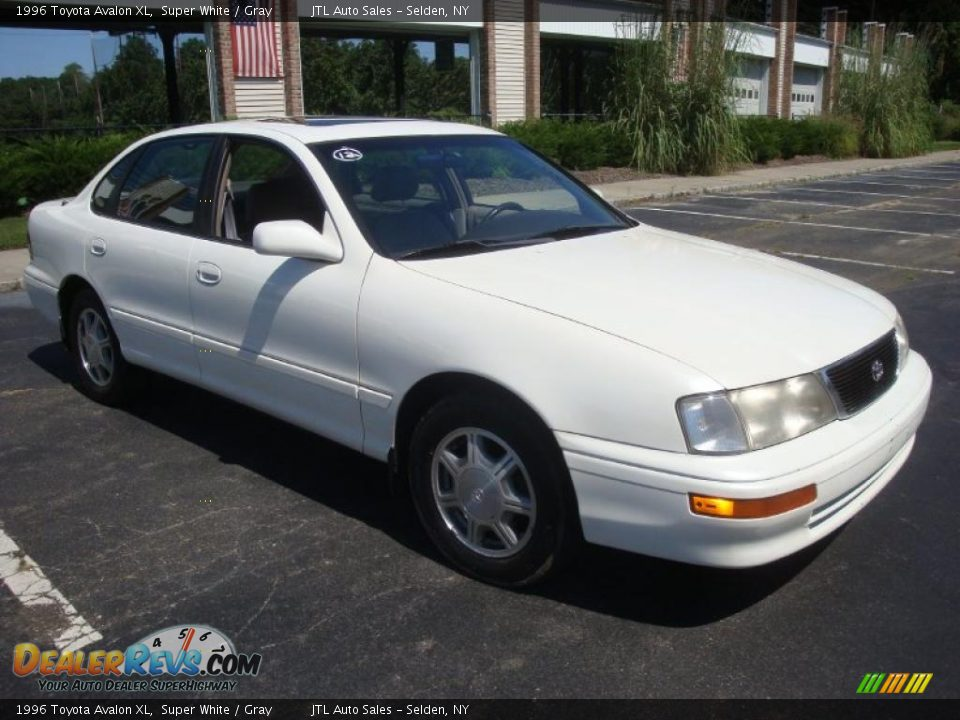 1996 toyota avalon xl super white gray photo 8