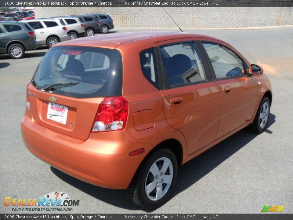 2006 chevrolet aveo ls hatchback spicy orange charcoal. Black Bedroom Furniture Sets. Home Design Ideas