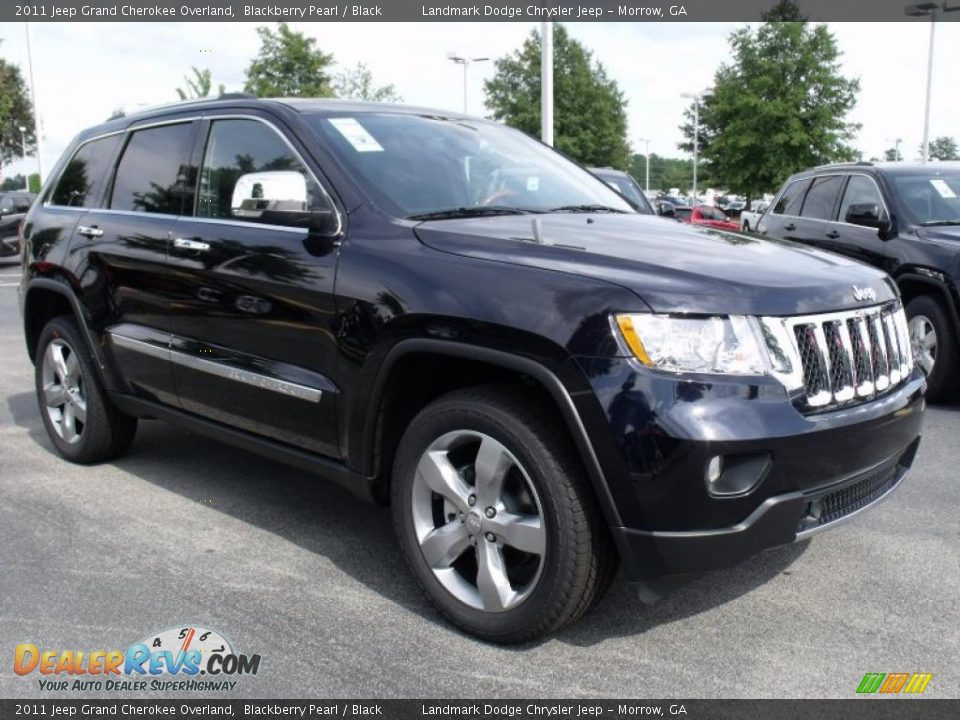 2011 Jeep Grand Cherokee Overland Blackberry Pearl Black