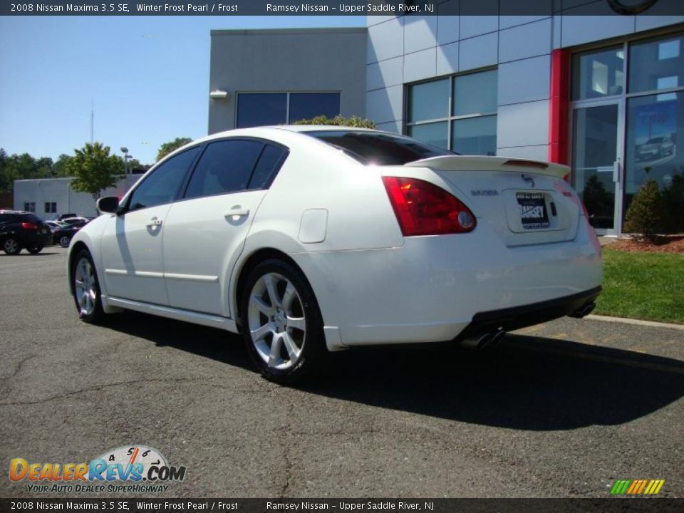 2008 Nissan Maxima 3 5 Se Winter Frost Pearl Frost Photo