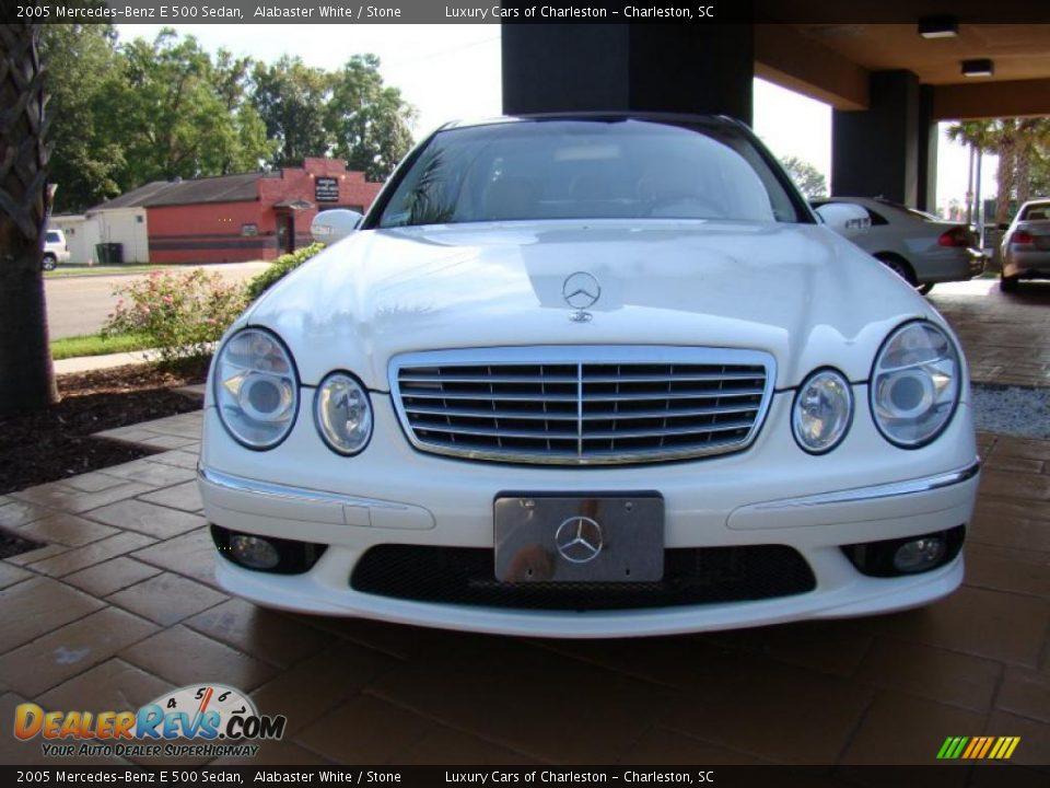 2005 mercedes benz e 500 sedan alabaster white stone for 2005 mercedes benz e350