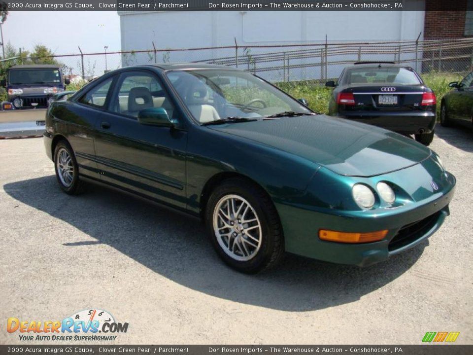Acura Integra GS Coupe Clover Green Pearl Parchment Photo - Acura integra gs 2000