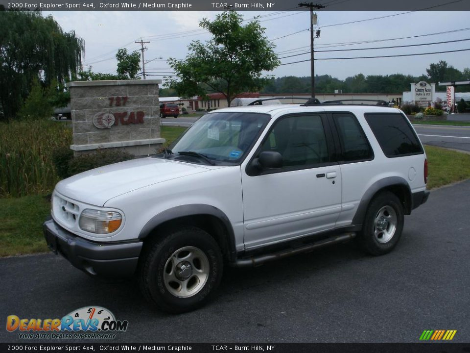 2000 ford explorer sport 4x4 oxford white medium graphite photo 1. Cars Review. Best American Auto & Cars Review